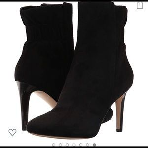 NWT!! Nine West Black Suede Bootie. Size 11